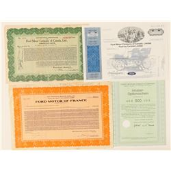 Ford Motor Company Foreign Stock Certificates  (91984)