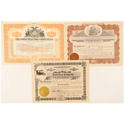 Ford Tractor, Taxi and Wheel stock certificates  (91982)