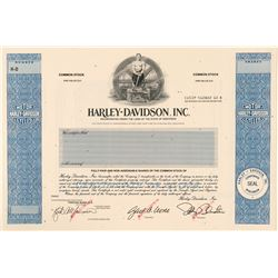 Harley Davidson Motorcycle Stock Certificate Specimen  (91660)