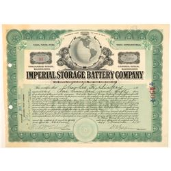 Imperial Storage Battery Company Stock  (91658)
