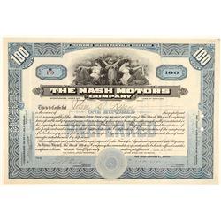 Nash Motors Company Stock Certificate  (103426)