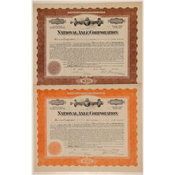 National Axle Corporation Stock Certificates   (103425)