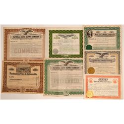 Tire & Rubber Companies Stock Certificates  (103452)