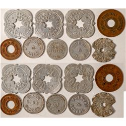 Nine Misc. Listed California Tokens  (102828)