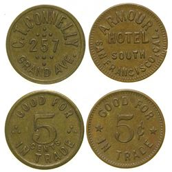Armour Hotel/C. T. Connelly Tokens  (101693)