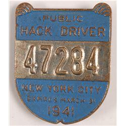 Hack Driver Badge  (102822)