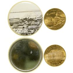 Pocket Mirror and Hospital Medal  (101227)
