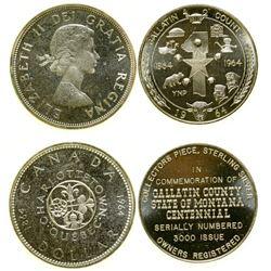 Montana Silver Medal/ Canadian Silver Dollar  (100546)