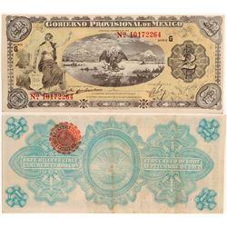 2 Peso Provisional Government Note  (101702)