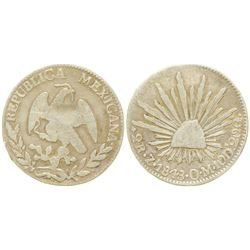 2 Reales Silver Coin  (104147)
