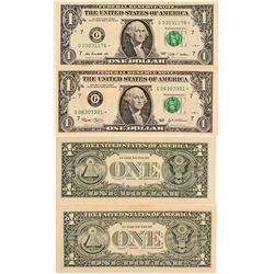 Two US Currency Star Notes of Low Mintage  (102481)