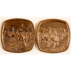 Western Remington Medals (2)  (91307)