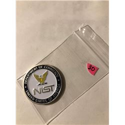 Rare Dept of Commerce USA NAVAL NIST Challange Coin