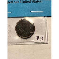 Very Rare 1868 Indian Head Penny VG Grade with Civil War Info Card