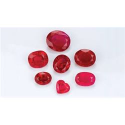 Bag of 5 Assorted RED RUBIES Tested Natural All for 1 Money