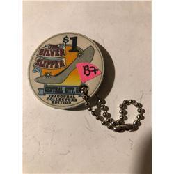 The Silver Slipper Casino 1 Dollar Chip Central City Colorado Key Chain