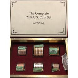 Complete 2014 US Coin Set in Thick Book 23 Dollar Face Value