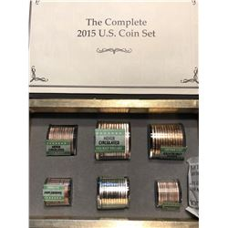 Complete 2015 US Coin Set in Thick Book 23 Dollar Face Value