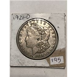 1921 D Morgan Silver Dollar Nice Early US Silver Dollar