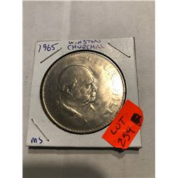 1965 Winston Churchill Large Coin in MS High Grade