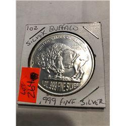 Silver Buffalo 1oz 999 Fine Silver MS High Grade
