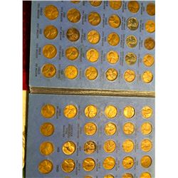 1941 Number 2 Penny Collection with some Canadian Cents 88 Total Coins in Book