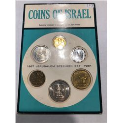 1967 Coins of Israel Collection in Original Package 6 Coin Set