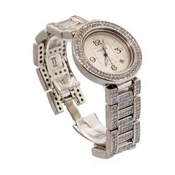 Cartier Men's Pasha Wristwatch with Custom Diamonds - Stainless Steel