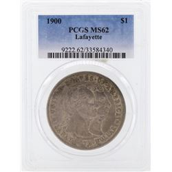 1900 $1 Lafayette Commemorative Silver Dollar Coin PCGS MS62