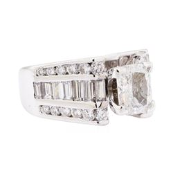 2.57 ctw Diamond Ring - 14KT White Gold