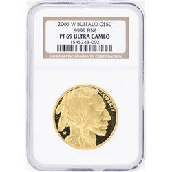 2006-W $50 American Buffalo Gold Coin NGC PF69