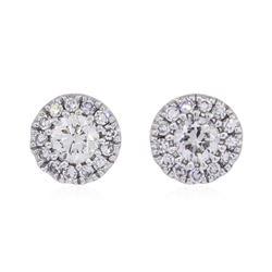 0.25 ctw Diamond Earrings - 14KT White Gold