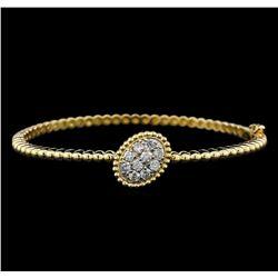 0.78 ctw Diamond Bangle Bracelet - 14KT Yellow Gold