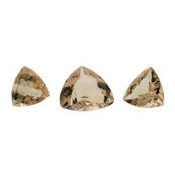 2.75 ctw. Natural Trilliant Cut Morganite Parcel of Three