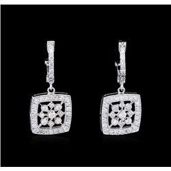 0.81 ctw Diamond Earrings - 14KT White Gold