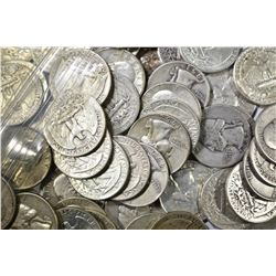$12 FACE VALUE MIXED DATE 90% SILVER QUARTERS