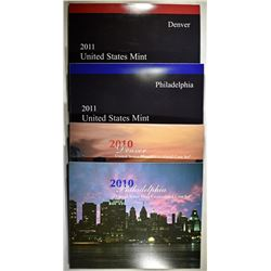 2010 & 2011 U.S. MINT UNC SETS ORIG PACKAGING