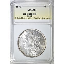 1879 MORGAN DOLLAR, OBCS, SUPERB GEM BU