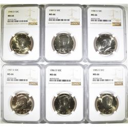 KENNEDY HALF DOLLAR LOT: ALL NGC MS-65