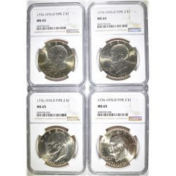 4-1976 -D TYPE-2 IKE DOLLARS, NGC MS-65