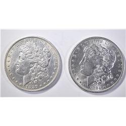 1884 BU & 87-O AU/BU MORGAN DOLLARS