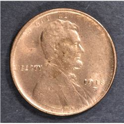 1918-S LINCOLN CENT  CH BU  RD