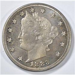 1883 WITH CENTS LIBERTY NICKEL  GEM BU