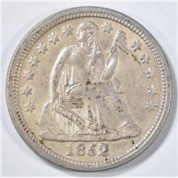 1852 SEATED LIBERTY DIME   CH BU