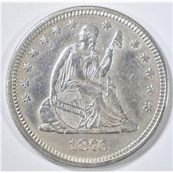 1876 SEATED LIBERTY QUARTER   AU