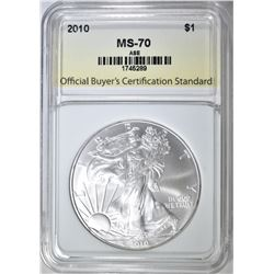 2010 AMERICAN SILVER EAGLE OBCS PERFECT GEM