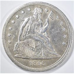 1846 SEATED LIBERTY DOLLAR  AU/BU