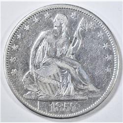 1857-O SEATED LIBERTY HALF DOLLAR  XF