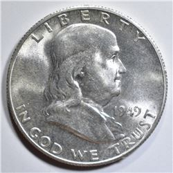 1949-S FRANKLIN HALF DOLLAR  GEM BU