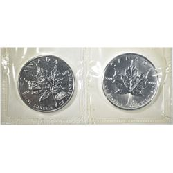 1999 & 2000 CANADA SILVER MAPLE LEAF COINS